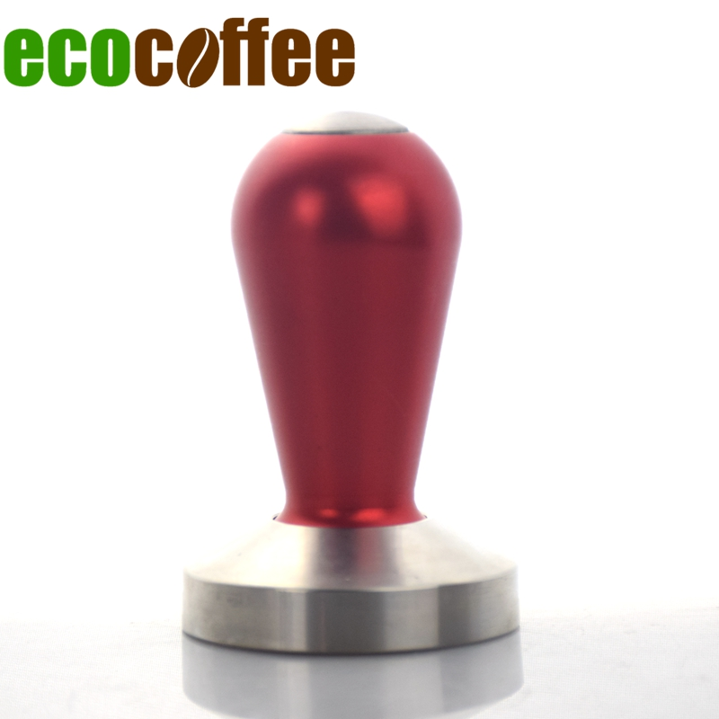 2018 New freeshipping 304 Stainless Steel Coffee Tamper Aluminum Handle 49/53/57/58MM base Professional Espresso Powder Hammer