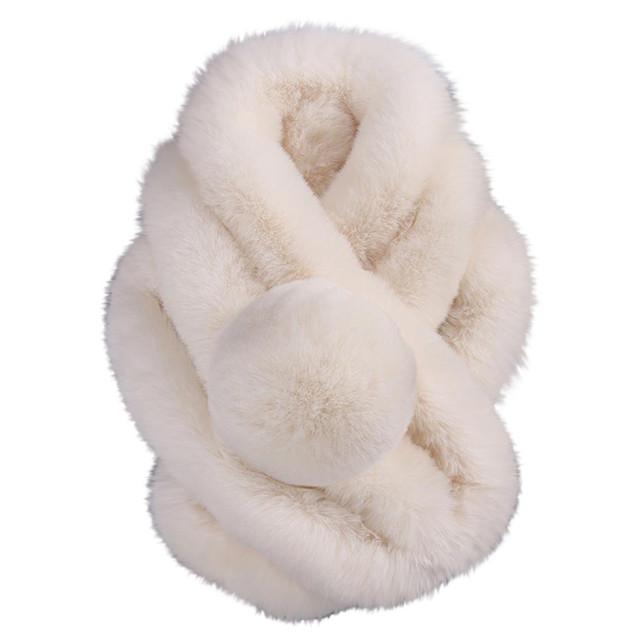2020 Female Women Winter Imitation Faux Fur Warm Scarf Fashion Thicken Fur Imitation Fur Grass Scarves Tippet Drop Ship A40
