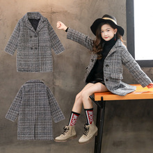 Girls Wool Overcoat Fall and Winter