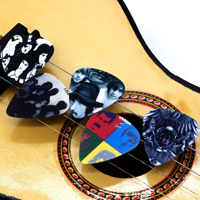 SOACH 10pcs 0.71mm guitar accessories high quality two side earrings pick DIY design Rock Band Queen pick guitar picks