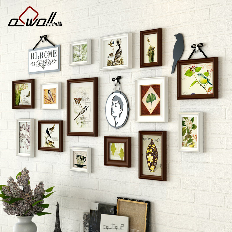14 Pieces/Set Photo Frames European Style Picture Frames For Wall ...