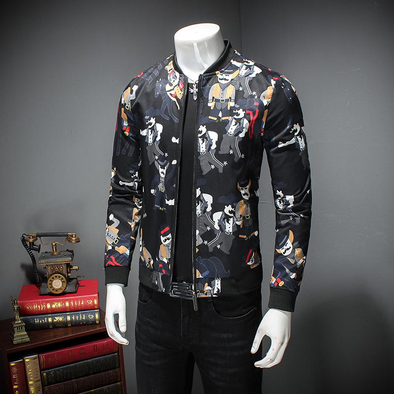 De m Slim Homme Floral Taille Impression Haute Manteau 5xl The Veste Mode vent As Qualité Casual Show Coréenne Coupe Bomber Photo Belle Plus Hommes Fit La deCWQrxBo