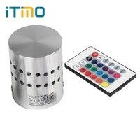 ITimo LED מנורות קיר שלט רחוק RGB Led קיר אור 110 V/220 V 3 W קישוט חנות הבית עבור בר קפה בסלון Luminaire