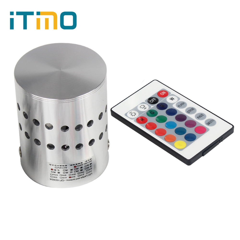Itimo LED Настенные светильники Дистанционное управление RGB светодиодный светильник настенный 110 В/220 В 3 Вт Гостиная Кофе магазин украшения дома для бар светильник