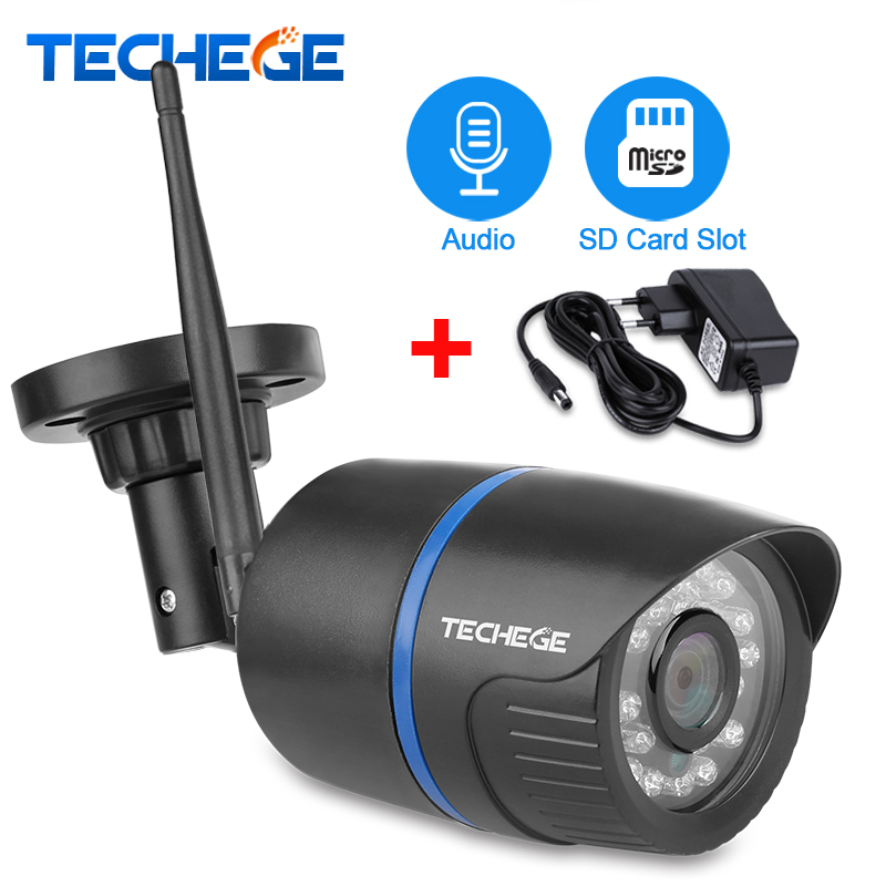 Techege 720P WIFI IP Camera Audio 1080P HD Network 1.0MP Wireless Camera Onvif Night Vision Waterproof IP Camera Free Adapter