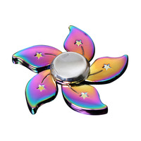 2017 New Arrival Rainbow Bauhinia Flower Star Fidget Spinner Hand Finger Gyro EDC Focus Toy