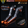 Logo(Z750) For Kawasaki Z750 (not Z750S model) 2007 2008 2009 2010 2011 2012 Orange+Titanium CNC Motorcycle Brake Clutch Levers