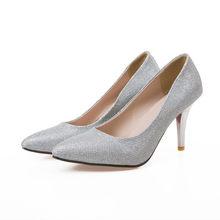 d297d10471e3 Big Size Sale 34-43 New Fashion Sexy Pointed Toe Women Pumps Platform Pumps  High Heels Ladies Wedding Party Shoes 138