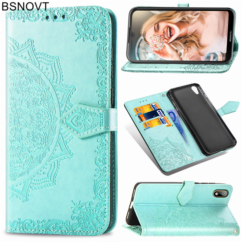 For Huawei Y5 2019 Case Soft Silicone Leather Cover For Huawei Honor 8S Case For Huawei Y5 2019 Honor 8S Phone Bag Case BSNOVT in Flip Cases from Cellphones Telecommunications