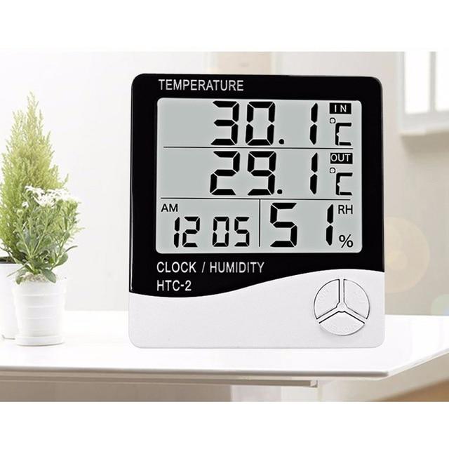 HTC-2 LCD Igrometro Termometro Digitale Indoor Outdoor Elettronico della Tempera