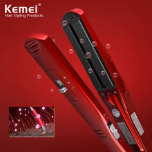 Kemei3011 пара и сухой утюг выпрямления волос Профессиональный Парикмахерские Портативный Керамический выпрямитель утюги Инструменты для укладки
