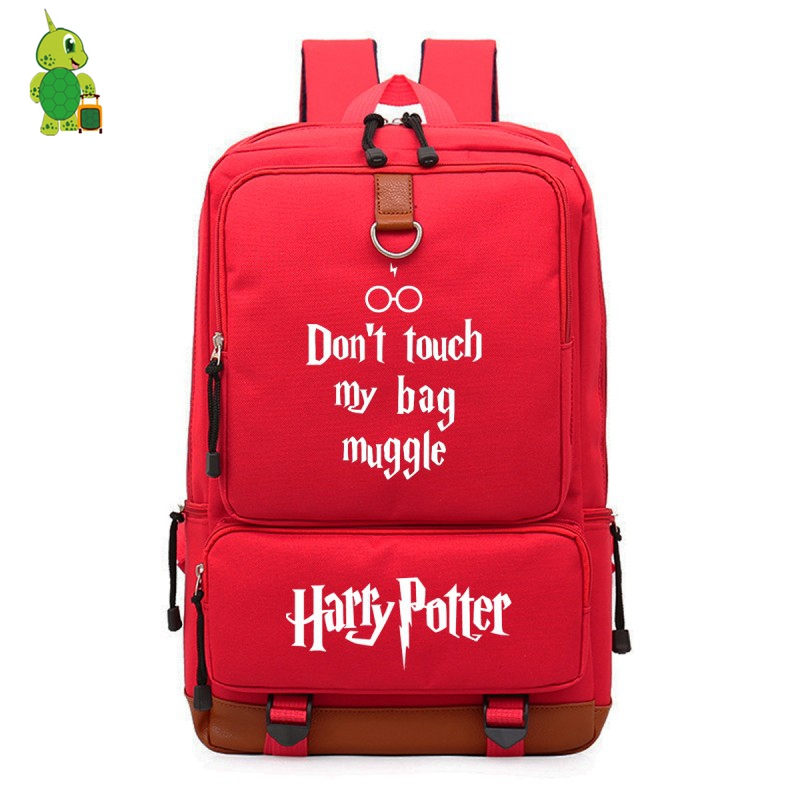 Mochila Harri Potter Laptop Backpack for Teenagers Magical Canvas Backpack Dont Touch My Bag Muggle Prints Students School BagsMochila Harri Potter Laptop Backpack for Teenagers Magical Canvas Backpack Dont Touch My Bag Muggle Prints Students School Bags