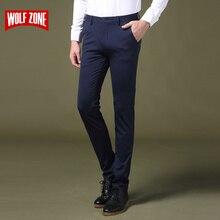 Frühling und Sommer Casual Hosen Männer Bekleidung Marke Hochwertigen Baumwolle 2017 Neue Mode Männlichen Business Hosen Voller Länge Wohnung