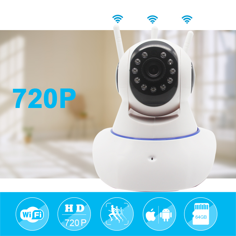 Mini CCTV WiFi Camera IP YOOSEE 720P Home Security Camera Wi-Fi P2P Two Way Audio Night Vision 3 Antennas Wireless Baby Monitor howell wireless security hd 960p wifi ip camera p2p pan tilt motion detection video baby monitor 2 way audio and ir night vision