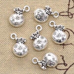 12 pièces breloques fleur sac à main portefeuille argent 12x10mm Antique argent couleur pendentifs faisant bricolage à la main tibétain argent couleur bijoux