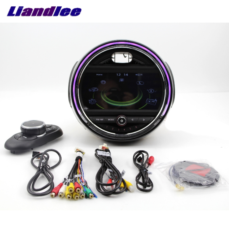 For Mini One Cooper Hatch F55 F56 2014~2018 Liandlee Car Multimedia Player With iDrive Button Car Radio Stereo GPS Navigation liislee car multimedia player navi for mini hatch f55 f56 2014 2018 car radio stereo gps navigation original car style ce system