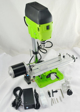 220V Mini Lathe Machine DIY Wood Lathe Mini Bench Drill for Wood Plastic 480W