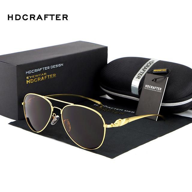 HDCRAFTER Polarized Óculos homem marca designer Esportes/óculos de proteção Óculos de Sol Óculos oculos de sol masculino Óculos de Condução E912