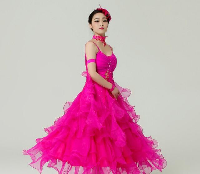 S XXL rosa amarillo blanco rosado de Las Mujeres de Baile de salón ...