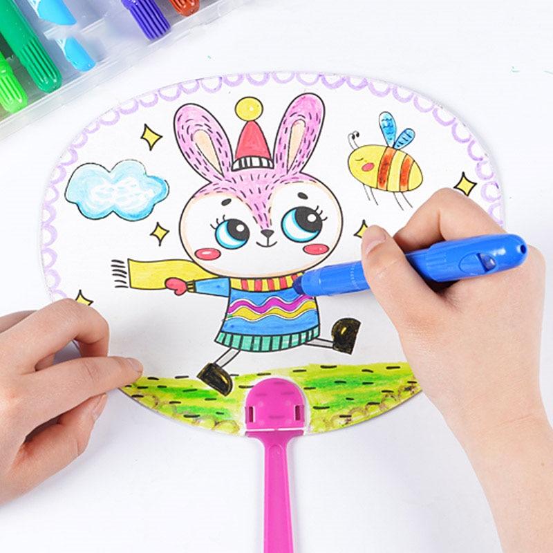 Diy Cartoon Garden Painting Paper Baby Learn To Draw Kids Handmade