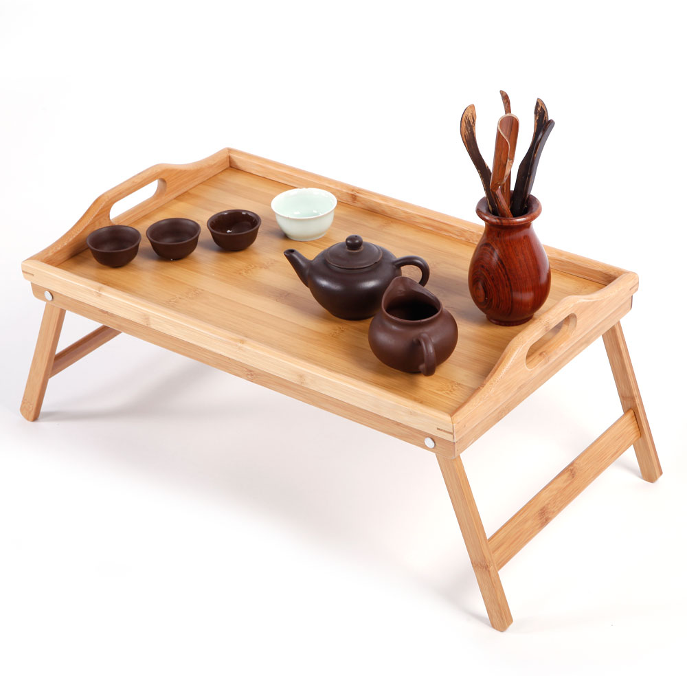 Simple Bamboo Tea Table Dropshipping 100% bamboo kung fu tea set bamboo tea tray bamboo tea saucer large sea water type tea table storage tray trumpet