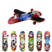 все цены на 5/10/20/50/100PCS Wholesale Alloy Mini Finger Skateboarding Fingerboard Toys Finger Scooter Skate Boarding Game Boys Desk Toys онлайн