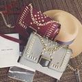 Fashion rivet personality pu new style women's shoulder bag handbag flap purse ladies totes casual crossbody messenger bag