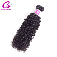 Coloré Reine Brésilienne Crépus Bouclés de Cheveux Humains Weave 1 Bundle Naturel Couleur 8-26 pouce Remy Cheveux Bundles Livraison gratuite 100 g/Pc