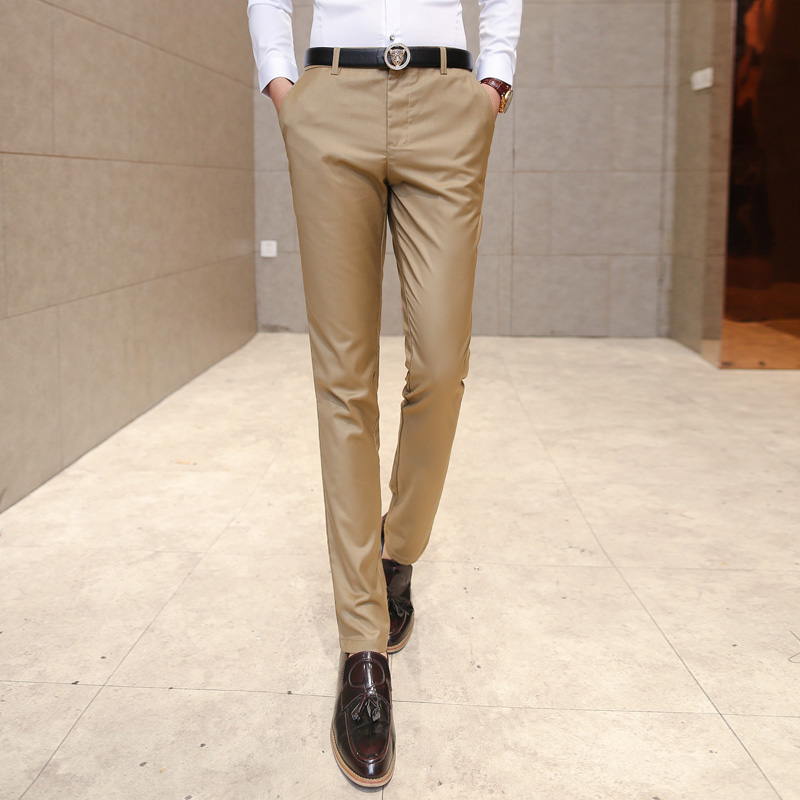 2017 neue hochzeit männer anzug hosen mode slim fit casual anzug - Herrenbekleidung - Foto 3