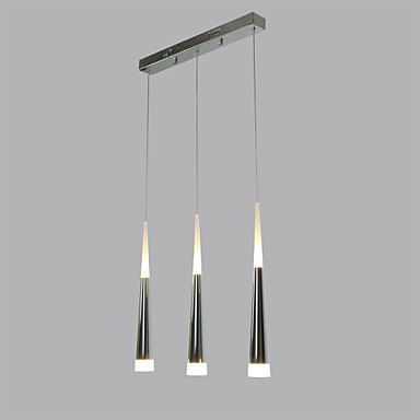 Acrylic LED Pendant Light Lamp With 3 Lights Modern  For Dining Room, Lampara Lustres E Pendente De Sala Teto new design acrylic modern led pendant lighting lamp with 6 lights for dining room foyer lustres e pendentes de sala ac