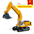 1:87 Alloy excavator model, high simulation engineering vehicles digging machine toys, educational toys, free shipping