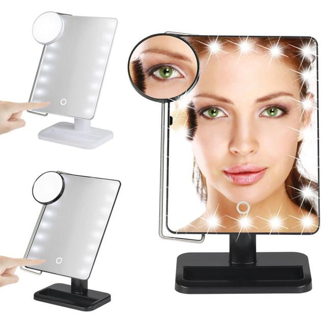 Beauty Girl Amazing  10X Magnifier LED Illuminated Makeup Mirror Cosmetic Vanity Mirror Touch Screen F17X18