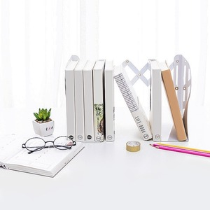 Image 5 - High quality metal Extensible Book Stand Rack Holders Document folding Racks Book organizer for Home School Office Bookcase