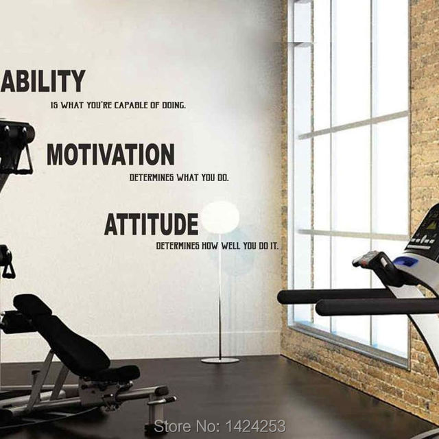BATTOO Large Wall Decals Gym Motivation Wall Decal Quote   Lou Holtz Quote    Ability Motivation