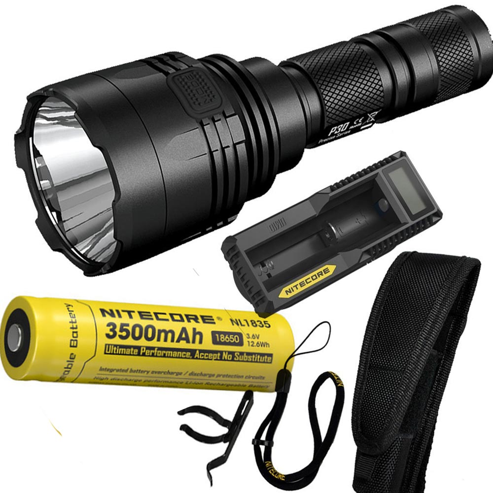 NITECORE P30 1000Lumen Long-range Tactical Flashlight Outdoor Hunting Waterproof Portable Torch with NL1835 Battery and charger powerful handlight outdoor tactical flashlight 1300lm tactical led flashlight torch outdoor waterproof aluminum alloy