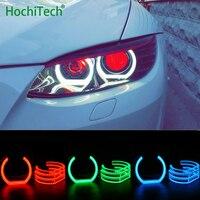 For BMW 1 Series E82 E88 E87 E81 2008 11 Xenon headlight RGB Angel Eyes DTM style Multi color daytime running light