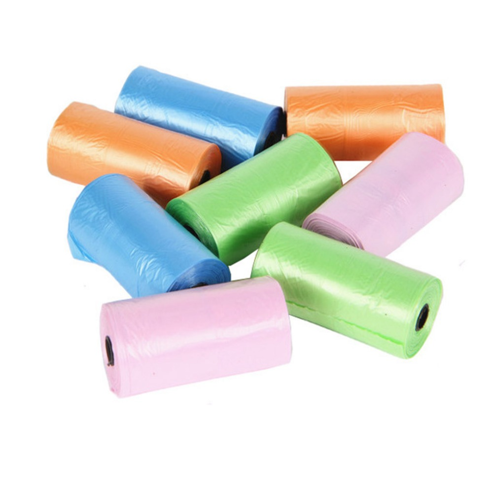 New Arrival 1 Rolls=20pcs Garbage Bags Travel Nappy Bags Baby Diaper Nappy Disposable One-time Use Rubbish Bag M902