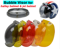 (1 st & 5 kleuren) hot verkoop! evo motorhelm vizier jet retro hallar vintage bubble vizier half helm masker accessoires