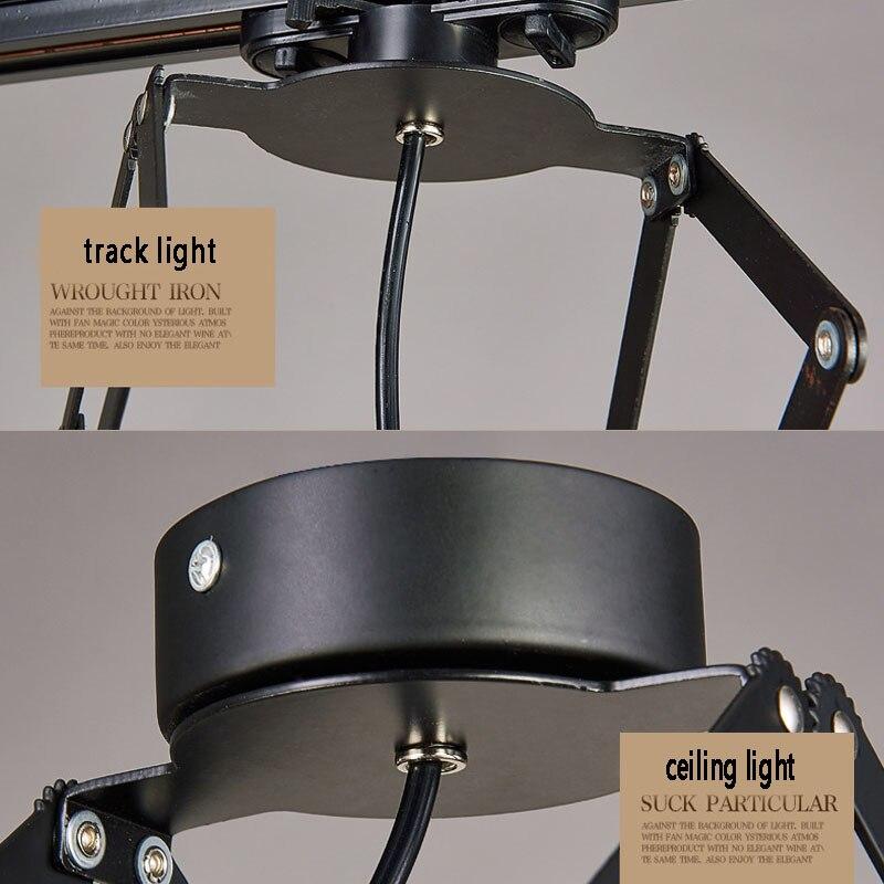 Retro Mini lâmpada Industrial lâmpada de Parede Base Da Lâmpada E27 4 Luz amp Ajustável Folha Luminária para Bar café Casa luzes - 5