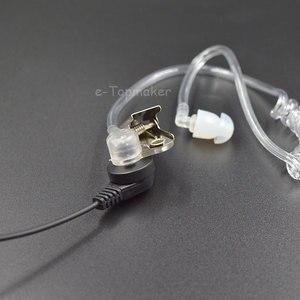 Image 3 - 10Pcs Covert Acoustic Tube + Ear Bud for Motorola Baofeng Portable Radio Earpiece Headset Earphone