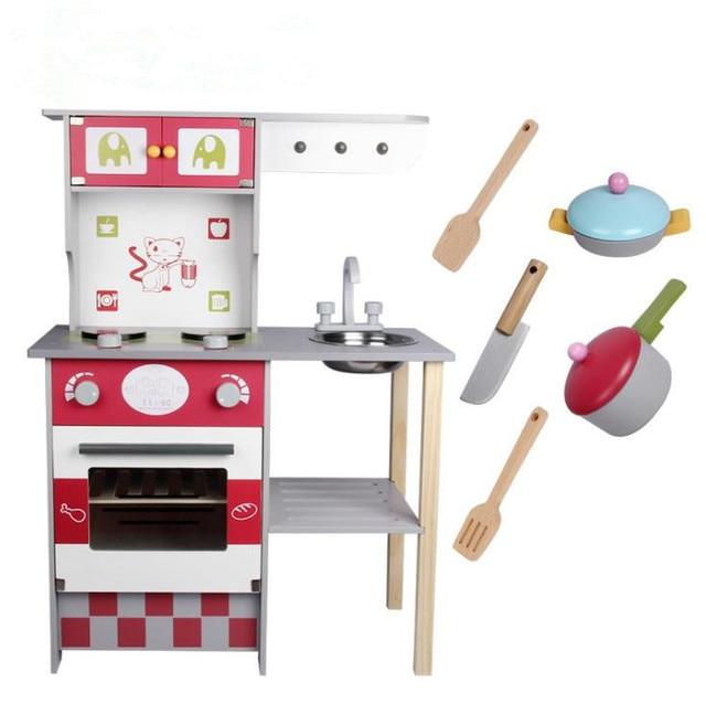 Wood Kitchen Toy For Kids,kids Wooden Toys,European Kitchen Pretend Play, Kitchen