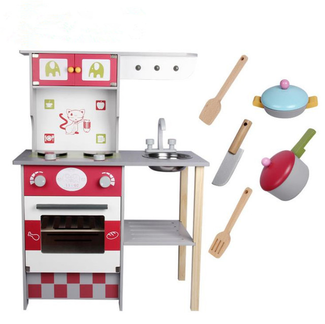Kids Wood Kitchen Pantrys Toy For Wooden Toys European Pretend Play