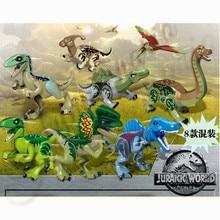 8pcsset Dinosaur Jurassic World Park Dino Figures Building Tyrannosaurus Assemble Blocks Compatible Lego Dinosaurs