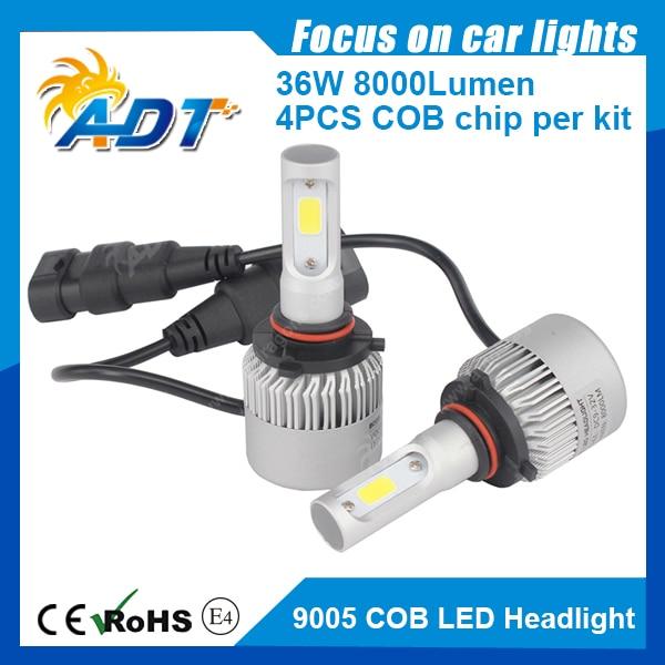 Free shipping 9005(HB3) 9006(HB4) H16 5202 9012 PSX26W PSX24W P13W COB S2 Auto waterproof led driving Headlight