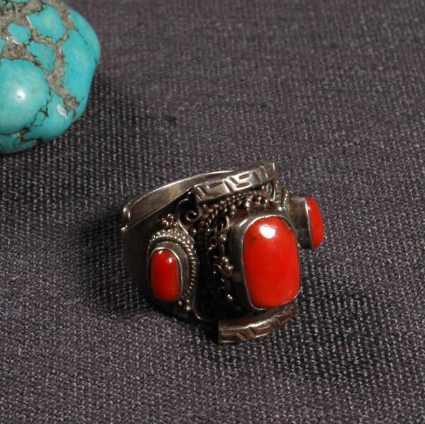 Handcrafted Nepalese 925 Silver Ring Tibetan 925 Sterling Silver Cocktail Ring Bohemia Ring Resizable