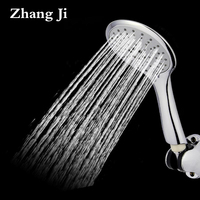 Ultrathin Five Function Bathroom Shower Head Water Saving Rainfall High Pressurized Boost Adjustable Chrome Shower Head