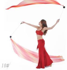 Image 5 - 2 قطعة الحجاب 2 قطعة POI سلسلة الكرة 2.0 متر * 0.7 متر متعدد الألوان الرقص الحجاب ملابس رقص البطن الإكسسوارات شحن مجاني