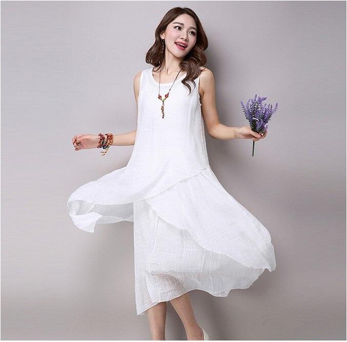 fea751d80 2016 Hot selling women s fashion cotton linen dresses girls summer ...