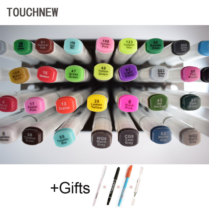 TOUCHNEW 80 Color Sketch  Copic Markers Pen  Dual Head Art Marker Set Alcohol Markers touchnew 60 colors artist dual head sketch markers for manga marker school drawing marker pen design supplies 5type