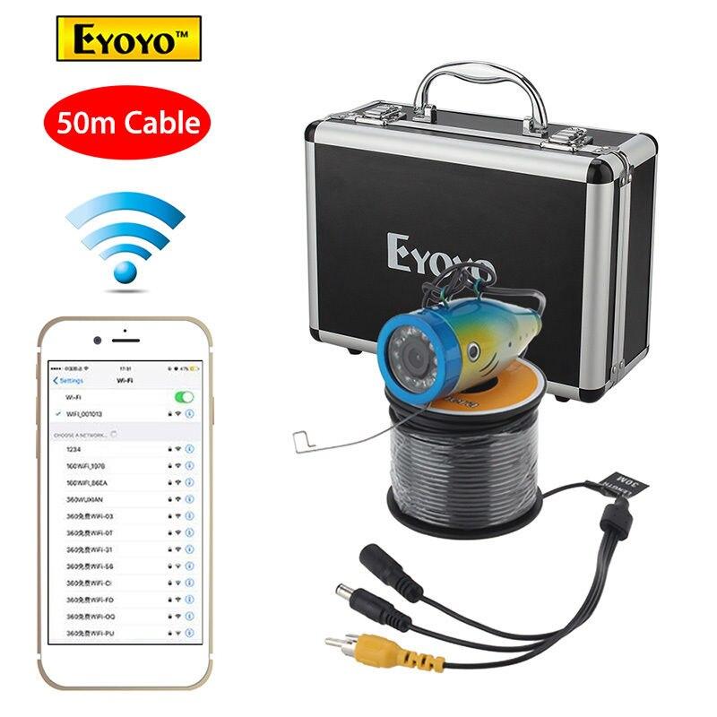 Free shipping!Eyoyo 50M Fish Finder 2.4G WIFI Wireless Waterproof Underwater Fishing Video Camera Эхолот для рыбалки